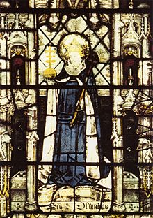Oswald, King of Northumbria from All Souls College Chapel.jpg