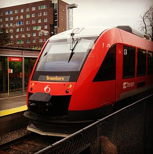 OC Transpo - The O-Train (Trillium Line) at Carleton University