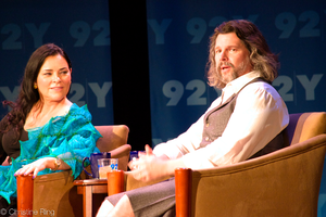 Outlander (TV series) - Ronald D. Moore (right) is the developer and showrunner of the TV series, which is based on the novel series of the same name written by Diana Gabaldon (left).