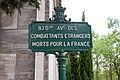 Père-Lachaise - Division 87 - Avenue des combattants étrangers mort pour la France 01.jpg
