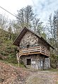 Pörtschach Leonstein Burgruine Vorwerk-Gebäude im äußeren Hof NO-Ansicht 13042019 6426.jpg