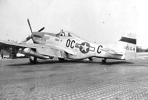 "356th Fighter Group - North American P-51K-5-NT Mustang Serial 44-11564 ""Princess Jocelyn"" of the 359th Fighter Squadron."