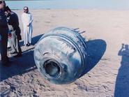 PAM-D module crash in Saudi Arabian desert