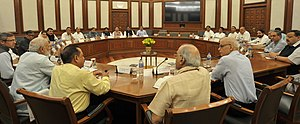 2016–17 Kashmir unrest - PM Narendra Modi with delegation of leaders from Jammu and Kashmir Opposition Parties on 22 August 2016