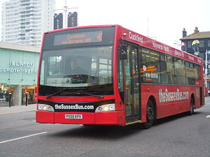 Optare Esteem - The Sussex Bus East Lancs Esteem bodied Volvo B7RLE in Brighton in September 2014