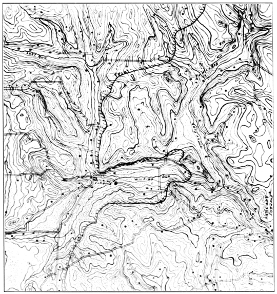 PSM V72 D507 Topographic map of water sources and human settlement.png