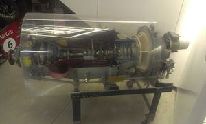 Pratt & Whitney Canada PT6 - Cutaway of a PT6 engine, McGill University