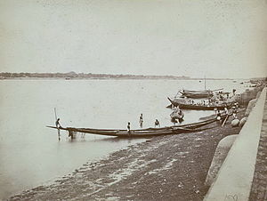 Padma River - Padma River and boats (1860)