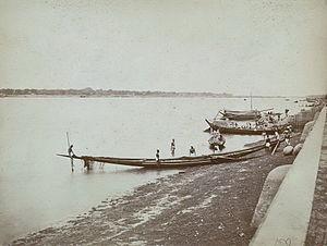 Padma River - Padma River and boats (1860)