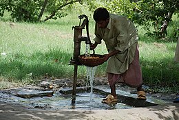 Pakistan Pump water system in rural Pakistan.jpg