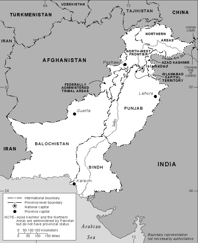 Pakistan boundaries, From WikimediaPhotos