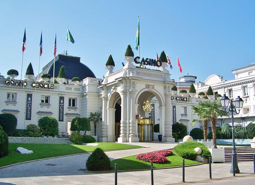 Sight of Palais de Savoie palace, hosting city of Aix-les-Bains casino in Savoie, France.