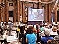 Palazzo Ducale (Genova) pubblico a convegno salone maggior consiglio veduta particolare nel 2016.jpg