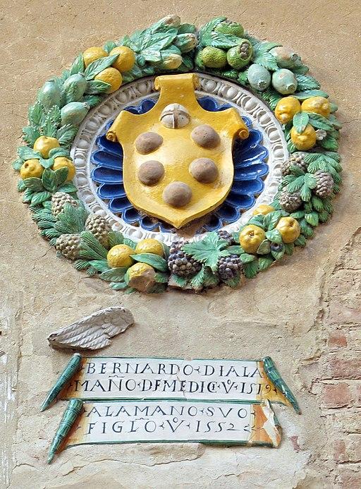 Certaldo, stemmi del Palazzo Pretorio,  stemma Bernardo di Alamanno De' Medici