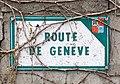 Panneau Route de Genève (Beynost, France) en 2019.jpg