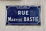 Panneau de la rue Maryse Bastié (Lyon) au niveau de la rue des Alouettes.jpg