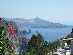 Lipari - View of Lipari.