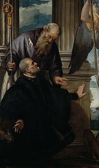 Petrobelli altarpiece - Saint Anthony Abbot and Antonio Petrobelli, National Gallery of Scotland