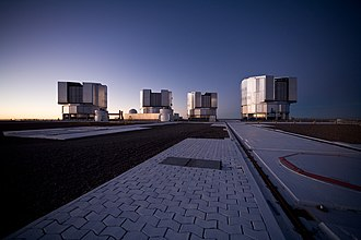 Very Large Telescope - VLT's four Unit Telescopes