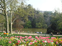 Parc Buttes Chaumont Paris France Spring 2007.jpg