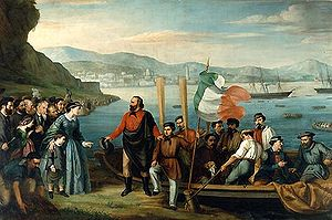 Francesco Crispi - The beginning of the expedition, to Sicily, at Quarto dei Mille, Genoa.