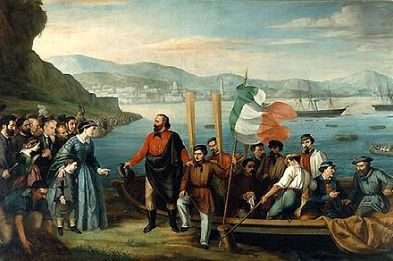 The beginning of the Expedition of the Thousand, 1860 Partenza da Quarto.jpg