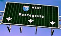 Pascagoula I-10 West Sign, Alabama (27632177560).jpg