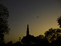Past and Present, The Qutab Minar and a Plane.jpg
