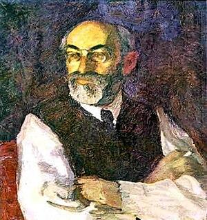 Mikhail Gershenzon - Mikhail Gershenzon in 1917, by Leonid Pasternak.