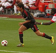 Pato con la maglia del Milan nel 2010