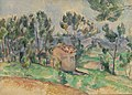 Paul Cézanne - Hunting Cabin in Provence (Cabane de chasse en Provence) - BF912 - Barnes Foundation.jpg