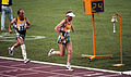 Paul Croft and Kyrra Grunnsund running at 1992 Paralympics.jpg
