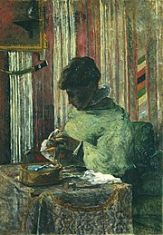 Paul Gauguin, 1880, The Embroiderer (La Brodeuse), oil on canvas, 116 x 81 cm, Foundation E.G. Bührle.jpg