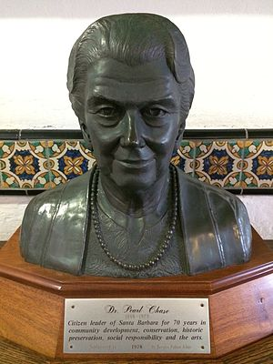 Pearl Chase - Sculpture of Pearl Chase at the Santa Barbara County Courthouse