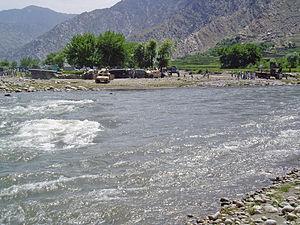Dara-I-Pech District - The Pech River flows through the valley.