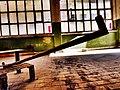 Pedro Meier Skulptur, Zyklus »Almost Readymade Nr. 18« 2016, (Eisenrohr auf Blech-Podest, Objet trouvé). Skulpturenpark Art Campus Attisholz bei Solothurn, Schweiz. Foto © Pedro Meier Multimedia Artist.jpg