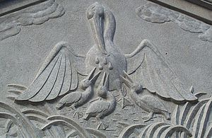 """Relief of a """"pelican in her piety"""""""