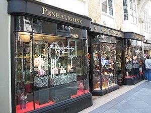 Penhaligon's - Penhaligon's store in the Burlington Arcade, London