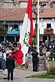 Peru flag raising ceremony in Plaza de Armas.jpg