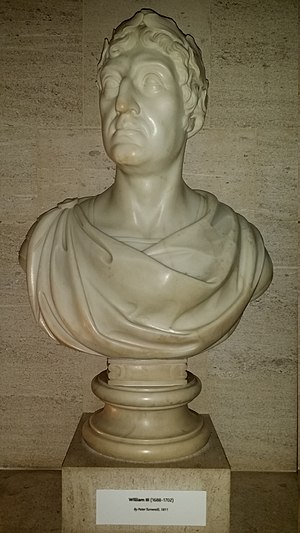 Peter Turnerelli - Bust of William III by Peter Turnerelli (1811) at the Bank of England Museum