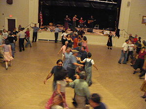 Contra dance - Contra dancers in Peterborough, New Hampshire