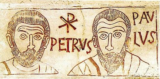 Petrus et Paulus 4th century etching