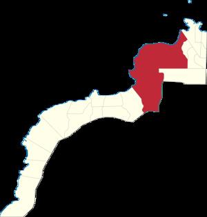 Legislative districts of Zamboanga del Norte - Map of the 2nd District of Zamboanga del Norte