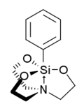 Stereo structural formula of phenylsilatrane