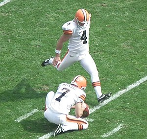 Phil Dawson - Dawson kicks the ball in a 2011 game