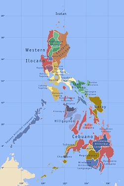 Map of the dominant ethnolinguistic groups of the Philippines.