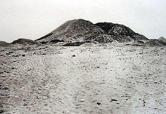 Pyramid of Senusret III - The pyramid of Senusret III in the 1890s