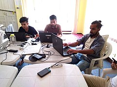 Photo Edit-a-thon during WLE 2019 in Nepal 03.jpg