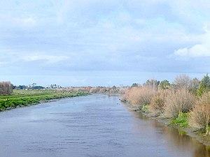 Piako River - The Piako River near Ngatea