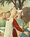 Piero, arezzo, Adoration of the Holy Wood and the Meeting of Solomon and the Queen of Sheba 03.jpg